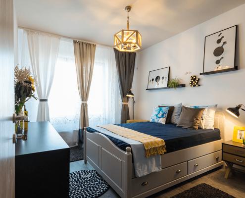 amenajare interioara, design interior, proiect On the Go, amenajare dormitor