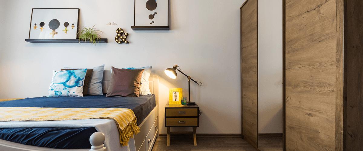 Proiect On the Go, amenajare dormitor, design interior, amenajare interioara, solutii de design interior, mobilier, obiecte de decoratiune, design de produs, finisaje, culori, paleta cromatica, solutii personalizate de amenajare
