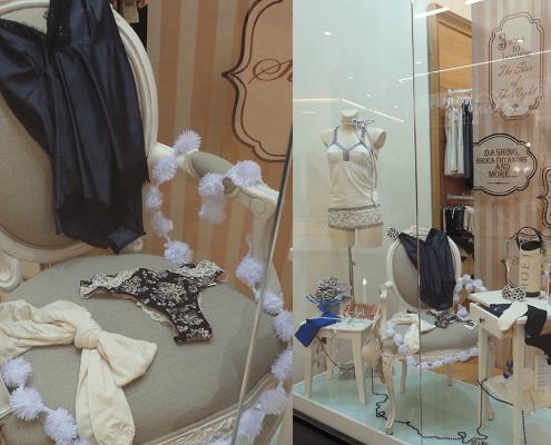 design interior, Za-Za Underwear, amenajare interioara, Promenada Mall, amenajare spatiu comercial, solutii personalizate pentru vitrina, styling, design de vitrina